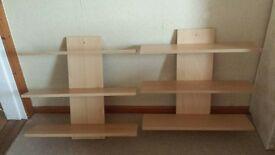 2x shelf units £15