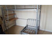 High Sleeper Bunk Bed (frame only, no mattress) desk and futon frame