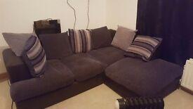Cloth corner sofa