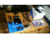 PS4 VR headset V2 with 3 games