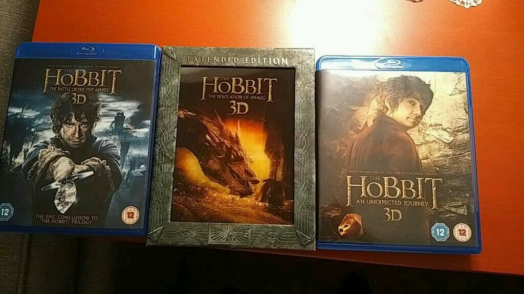 Hobbit blueray 3D collection.