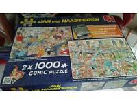 Jan van Haastern comic puzzles 2 x 1000 santas helpers and new year party