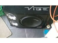 ( reduced to sell)vibe subwoofer amp box in good condition,vented air 12 . see pics .
