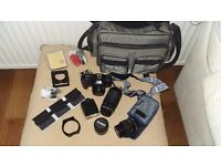 Olympus SLR OM101 with lots of extras