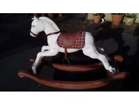 Rocking horse. Heavy plastic well used suitable for 2-4 year olds. Needs new reins