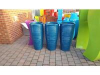 Designer plant pots fibre glass indoor and outdoor
