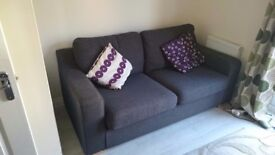 Charcoal 3 seater sofa for sale