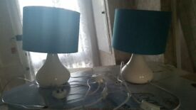 X2 Teal table lamps