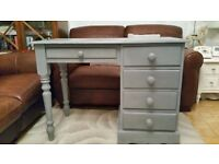 GREY DRESSING TABLE/SMALL DESK