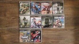 PS3 Games x 10