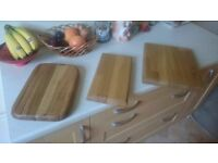 Hand crafted oak chopping boards/cheese board