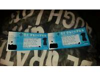2 Ed Sheeran tickets, Nottingham Wednesday 26th April
