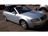 Audi A4 Cabriolet, 1.8t, low mileage, FSH, full MOT, perfect hood, reliable, economical, HPI clear