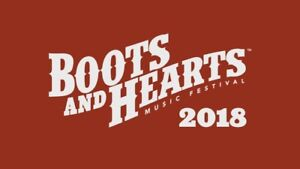LOOKING FOR BOOTS AND HEARTS TICKET AND CAMPSITE
