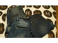3 x pairs womens jeans