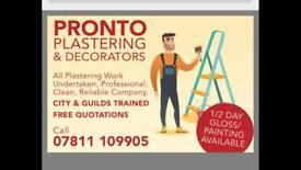 Plasterer & decorator
