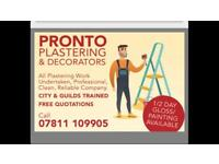 Plasterer & decorator