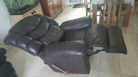 Real leather recliner