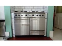 Falcon stainless Steel range dual fuel cooker