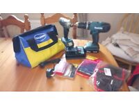 Used Makita 18 v cordless twin set + extras, GWO, see photos & details