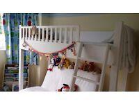Kids wooden high sleeper bed - handmade