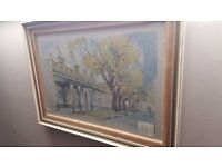 Print of Painting of Andringa St, Stellenbosch (South Africa) by A. H. Bridgman
