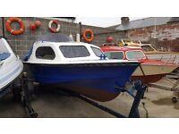 17ft Shetland 535 on trailer