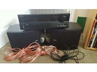 Onkyo TX-SR307 and 2x Bose 301 V Speakers with 2x Speaker Cables and 1x Optical Audio Cable