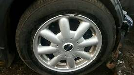 Mini Cooper 2004 15inch Alloy Wheels &Tyres