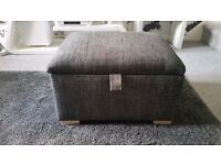 Reduced £40 BRAND NEW FABRIC STORAGE FOOTSTOOL/POUFFE avail in DARK GREY,GREY OR OATMEAL Can Deliver