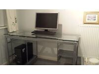 Glass & Metal Desk