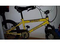 Yellow 16in boys bike