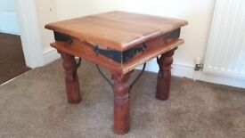 Solid wood heavy occasional table