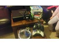 Xbox 360 games console with extras