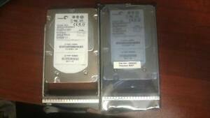"LOT OF 2 ST3146356FC SEAGATE CHEETAH 146GB 15K FIBRE CHANNEL 3.5"" HARD DRIVE"