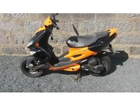 Peugeot Speedfight 2 50cc orange 2009 plate reduced price £400 as mot ran out