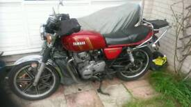 YAMAHA XS250 MOTORCYCLE plus donor spares bike