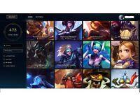 League of legends account EUNE, 478 skins