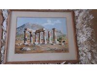 4 decorative Greek paintings