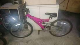 Girls pink teens bicycle