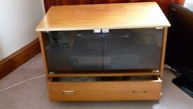 TV/DVD cabinet with glass doors & drawer. Excellent condition