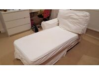 White ikea chaise longue bed/sofa