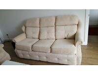 Two Cream Sofas (Very Good Condition)