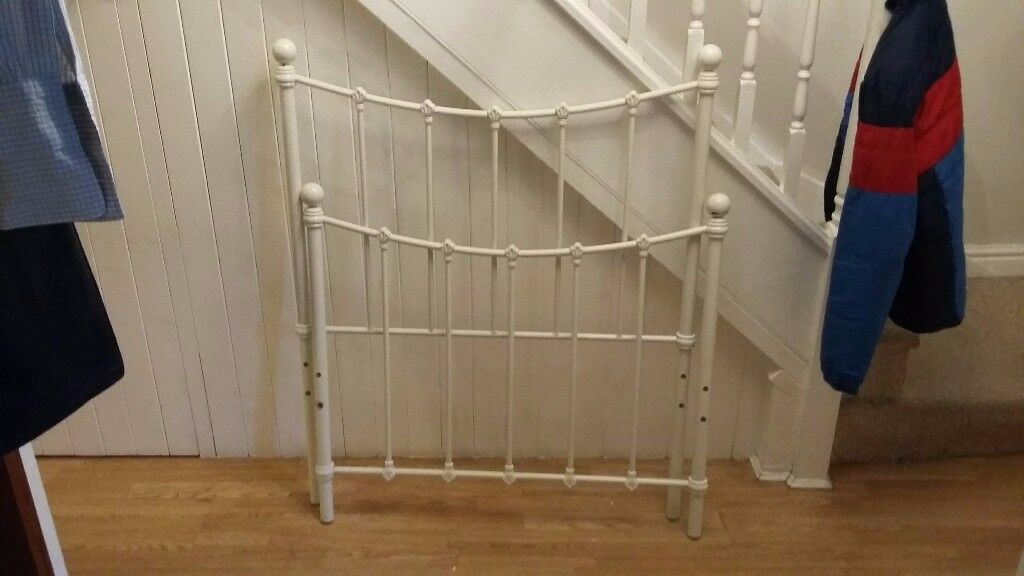 Traditional Cream Metal Single Bed