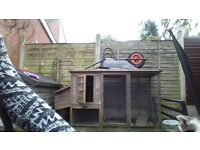 hen/rabbit hutch with run
