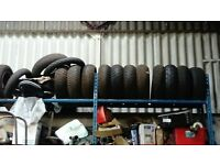 USED MOTORBIKE TYRES FOR SALE £10 EACH various sizes available