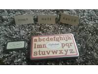 Alphabet stamps rustic wedding