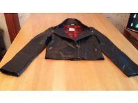 kylie leather look jacket