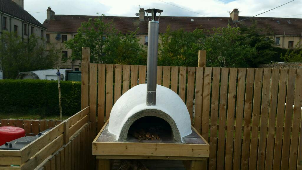 Make your own wood fired outdoor pizza ovenin Lochgelly, FifeGumtree - Here it is finished, our out door pizza oven. Ive put this together for under £250, yes I had some stuff lying around, the screws for the Base, the rock wool for the extra insulation but, I bought all the wood that its standing on for under £70. I...
