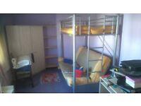 High sleeper double bunk bed
